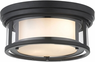 Z-Lite 426F12-MB Willow Contemporary Matte Black 12  Flush Mount Lighting