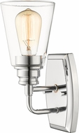 Z-Lite 428-1S-CH Annora Modern Chrome Wall Lighting Fixture