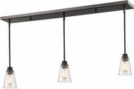 Z-Lite 428MP-3OB Annora Olde Bronze Clear Multi Pendant Light Fixture