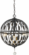 Z-Lite 430B18-BRZ Almet Bronze 5-Light Pendant Light Fixture
