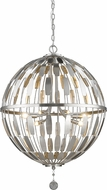 Z-Lite 430B24-BN Almet Brushed Nickel 6-Light Pendant Lighting Fixture