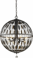 Z-Lite 430B30-BRZ Almet Bronze 8-Light Pendant Hanging Light