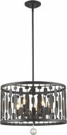 Z-Lite 430D20-BRZ Almet Bronze 5-Light Ceiling Light Pendant