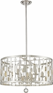 Z-Lite 430D24-BN Almet Brushed Nickel 6-Light Ceiling Pendant Light