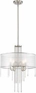 Z-Lite 433P-BN Siena Contemporary Brushed Nickel Hanging Pendant Lighting