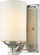 Z-Lite 435-1S-BN Bordeaux Brushed Nickel Wall Sconce Lighting