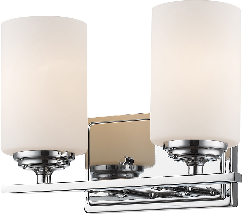 Z Lite 435 2v Ch Bordeaux Chrome 2 Light Bathroom Vanity Light Fixture