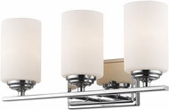 Z-Lite 435-3V-CH Bordeaux Chrome 3-Light Bathroom Wall Sconce