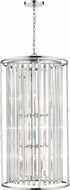 Z-Lite 439-12CH Monarch Chrome 20  Foyer Light Fixture