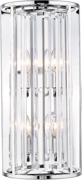Z-Lite 439-4S-CH Monarch Chrome Sconce Lighting