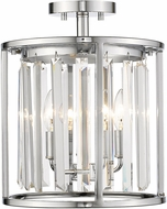 Z-Lite 439SF12-CH Monarch Chrome 12  Flush Mount Lighting
