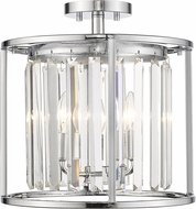 Z-Lite 439SF14-CH Monarch Chrome 14  Overhead Lighting
