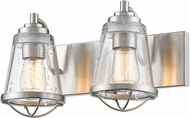 Z-Lite 444-2V-BN Mariner Contemporary Brushed Nickel 2-Light Bathroom Lighting Sconce