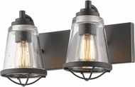 Z-Lite 444-2V-BRZ Mariner Modern Bronze 2-Light Bathroom Sconce Lighting