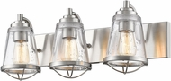 Z-Lite 444-3V-BN Mariner Contemporary Brushed Nickel 3-Light Bath Lighting Sconce