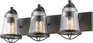 Z-Lite 444-3V-BRZ Mariner Modern Bronze 3-Light Bathroom Wall Light Fixture