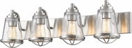 Z-Lite 444-4V-BN Mariner Contemporary Brushed Nickel 4-Light Bathroom Lighting
