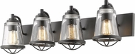 Z-Lite 444-4V-BRZ Mariner Modern Bronze 4-Light Lighting For Bathroom