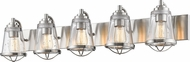 Z-Lite 444-5V-BN Mariner Contemporary Brushed Nickel 5-Light Bath Lighting