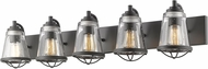 Z-Lite 444-5V-BRZ Mariner Modern Bronze 5-Light Bathroom Light