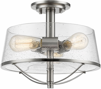 Z-Lite 444SF-BN Mariner Contemporary Brushed Nickel Ceiling Light Fixture