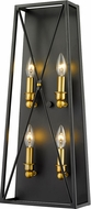 Z-Lite 447-4S-MB-OBR Trestle Matte Black and Olde Brass Lighting Sconce