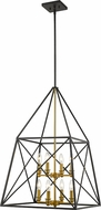 Z-Lite 447-8MB-OBR Trestle Matte Black and Olde Brass Foyer Lighting Fixture