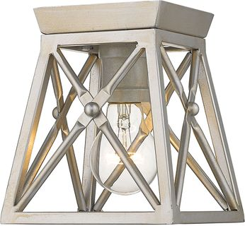 Z-Lite 447F1-AS Trestle Antique Silver Home Ceiling Lighting