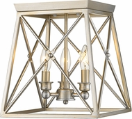 Z-Lite 447F11-AS Trestle Antique Silver Flush Mount Lighting