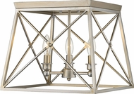 Z-Lite 447F14-AS Trestle Antique Silver Flush Mount Light Fixture