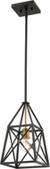 Z-Lite 447MP-MB-OBR Trestle Matte Black and Olde Brass Entryway Light Fixture