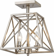 Z-Lite 447SF-AS Tressle Modern Antique Silver Flush Mount Lighting