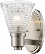 Z-Lite 449-1S-BN Intrepid Modern Brushed Nickel Sconce Lighting