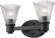 Z-Lite 449-2V-BRZ Intrepid Modern Bronze 2-Light Vanity Lighting