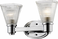 Z-Lite 449-2V-CH Intrepid Contemporary Chrome 2-Light Vanity Light