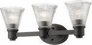 Z-Lite 449-3V-BRZ Intrepid Contemporary Bronze 3-Light Bath Lighting Fixture