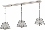 Z-Lite 451-16-3BN Iuka Modern Brushed Nickel Multi Pendant Light