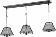Z-Lite 451-16-3BRZ Iuka Contemporary Bronze Multi Lighting Pendant