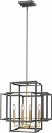 Z-Lite 454-18BRZ-OBR Titania Contemporary Bronze + Olde Brass 18  Entryway Light Fixture