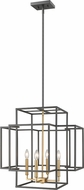 Z-Lite 454-22BRZ-OBR Titania Contemporary Bronze + Olde Brass 22  Foyer Light Fixture