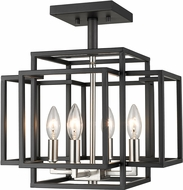 Z-Lite 454SF-BK-BN Titania Modern Black + Brushed Nickel Ceiling Light