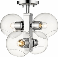 Z-Lite 455SF-CH Marquee Contemporary Chrome Ceiling Lighting Fixture