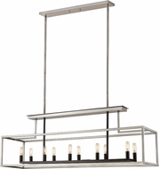 Z-Lite 456-10L-BN-BK Quadra Modern Brushed Nickel / Black Kitchen Island Lighting