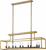 Z-Lite 456-10L-OBR-BRZ Quadra Contemporary Olde Brass / Bronze Kitchen Island Light