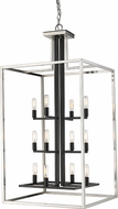 Z-Lite 456-12BN-BK Quadra Modern Brushed Nickel + Black 20  Foyer Lighting Fixture