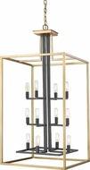 Z-Lite 456-12OBR-BRZ Quadra Contemporary Olde Brass + Bronze 20  Entryway Light Fixture