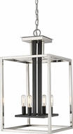 Z-Lite 456-4BN-BK Quadra Modern Brushed Nickel + Black 13  Foyer Lighting