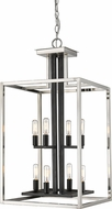 Z-Lite 456-8BN-BK Quadra Modern Brushed Nickel + Black 15  Foyer Lighting Fixture