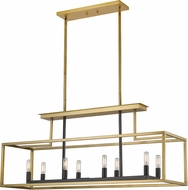 Z-Lite 456-8L-OBR-BRZ Quadra Contemporary Olde Brass / Bronze Kitchen Island Light Fixture