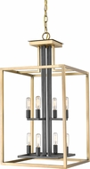 Z-Lite 456-8OBR-BRZ Quadra Contemporary Olde Brass + Bronze 15  Entryway Light Fixture